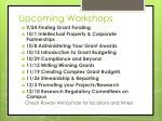 upcoming workshops