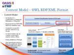 content model owl rdf xml format