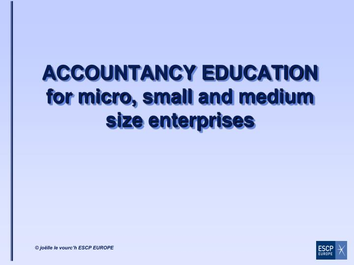 accountancy education for micro small and medium size enterprises n.
