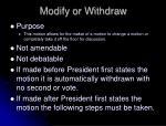 modify or withdraw