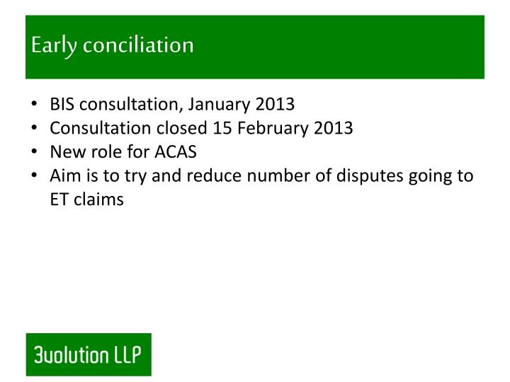 Early conciliation