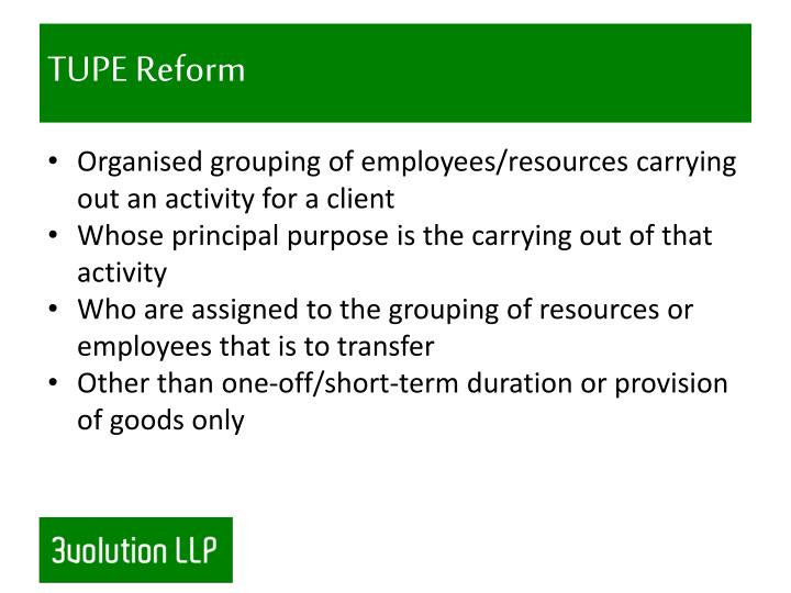TUPE Reform