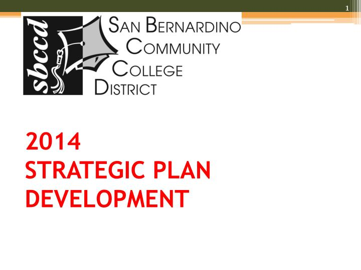2014 strategic plan development n.