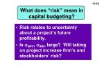 what does risk mean in capital budgeting