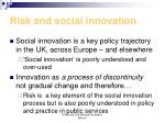 risk and social innovation
