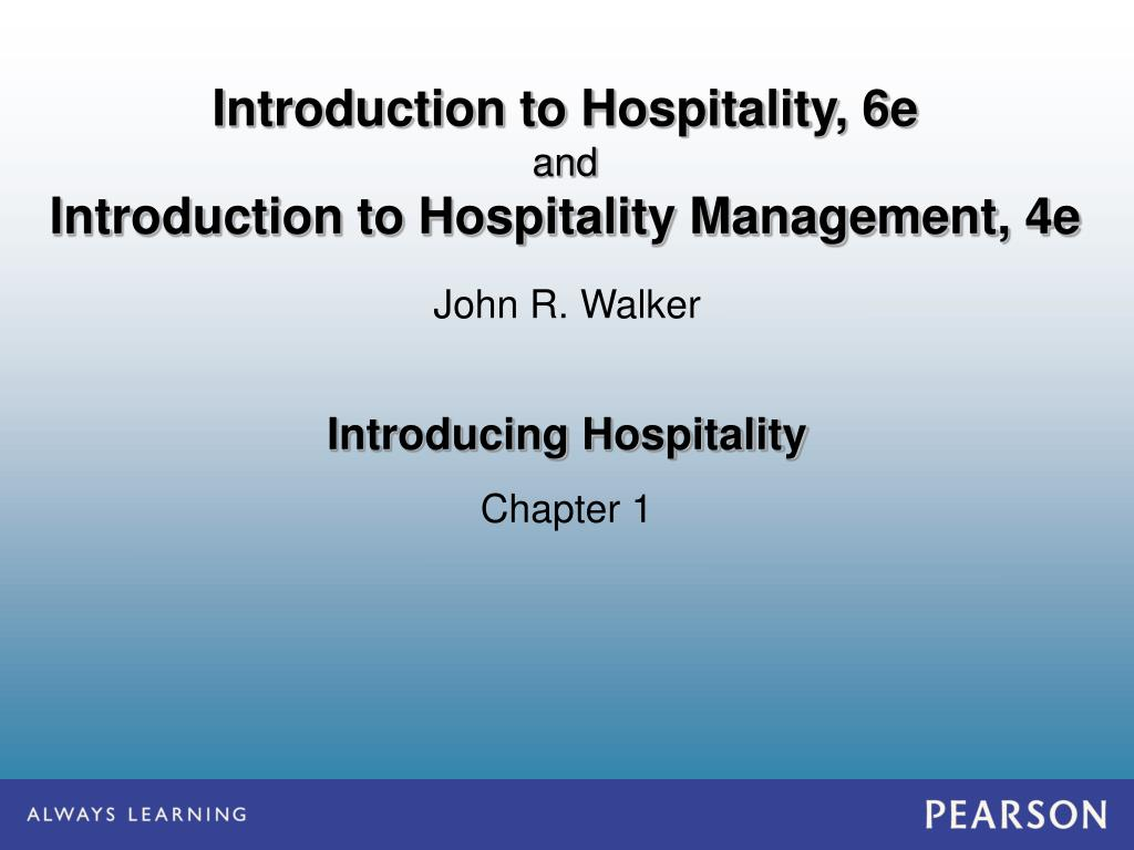 PPT - Introducing Hospitality PowerPoint Presentation - ID:1655095