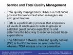 service and total quality management