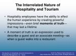 the interrelated nature of hospitality and tourism1