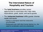the interrelated nature of hospitality and tourism3