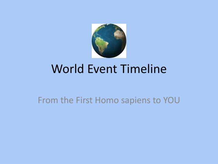 world event timeline n.