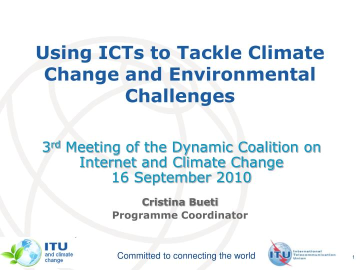 using icts to tackle climate change and environmental challenges n.