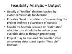 feasibility analysis output