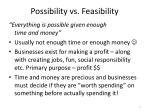 possibility vs feasibility