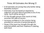 trivia all estimates are wrong