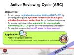 active reviewing cycle arc2