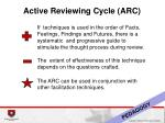 active reviewing cycle arc3