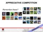 appreciative competition