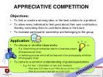 appreciative competition1