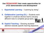 use pedagogies that create opportunities for 21cc demonstration and development
