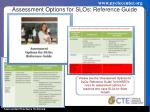 assessment options for slos reference guide