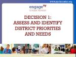 decision 1 assess and identify district priorities and needs