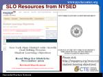 slo resources from nysed