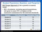 student population baseline and target s1