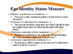 ego identity status measure