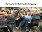 buying a distressed company