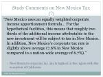 study comments on new mexico tax1