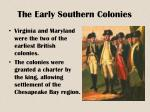 the early southern colonies