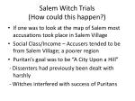salem witch trials how could this happen