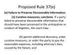 proposed rule 37 e