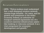 aviation externalities