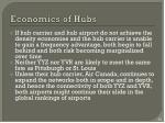 economics of hubs1