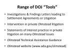 range of doj tools