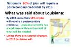 what was said about louisiana