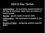 unit 6 key terms