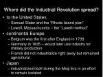 where did the industrial revolution spread