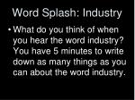 word splash industry
