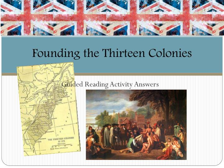 founding the thirteen colonies n.
