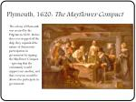 plymouth 1620 the mayflower compact