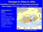 changes in cities in ldcs