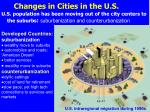 changes in cities in the u s