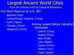 largest ancient world cities from fall of rome until the industrial revolution
