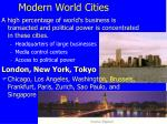 modern world cities