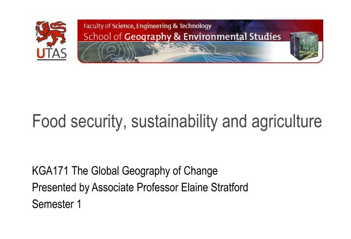 food security sustainability and agriculture n.