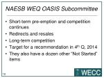 naesb weq oasis subcommittee