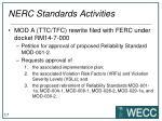 nerc standards activities
