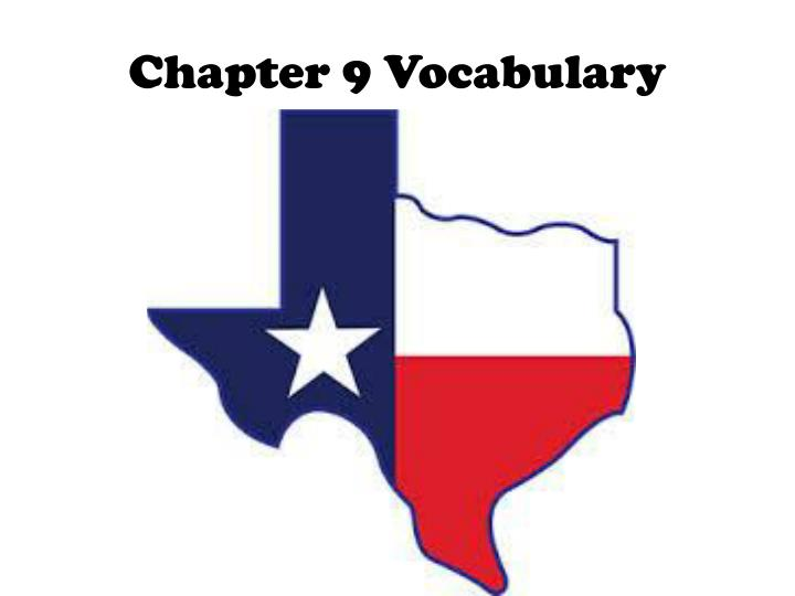 chapter 9 vocabulary n.